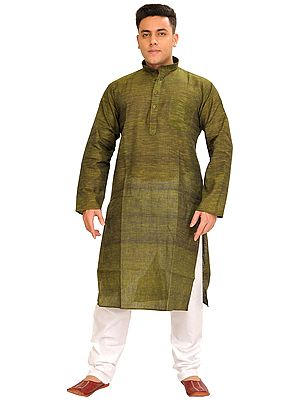 Pure Cotton Kurta Pajama Set with Thread Weave
