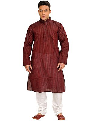 Casual Kurta Pajama Set with Printed Stripes