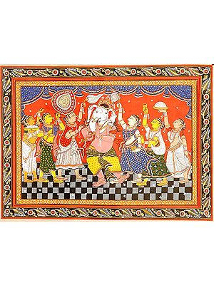 Adoration of Fluting Ganesha