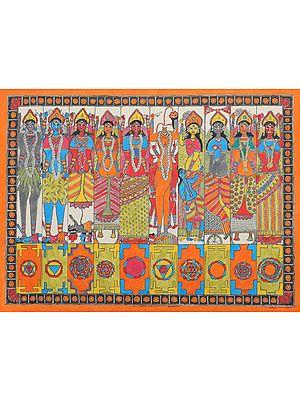 The Ten Mahavidyas with Yantras