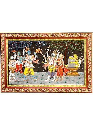 Shiva as Kalantaka Saves Rishi Markandeya