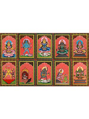 The Ten Mahavidyas, From The Tender To The Ferocious (Set of Ten Paintings)