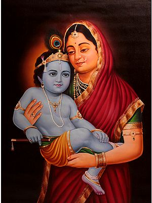 Baby Krishna in the Lap of Mother Yashoda