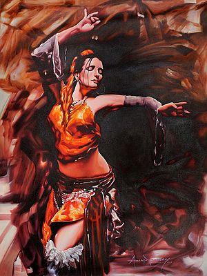 Dancer Caught In The Ecstasy of Her Art