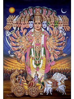 Lord Vishvaroopa Revealed To Warrior-Prince Arjuna