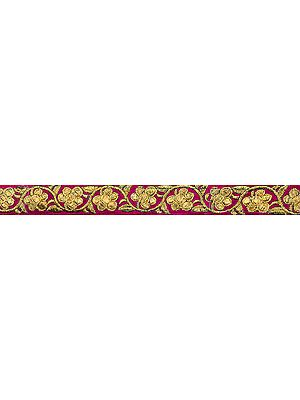 Floral Zari-Embroidered Velvet Lace