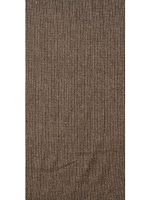 Walnut-Gray Tweed Woven Wool Fabric from Himachal Pradesh