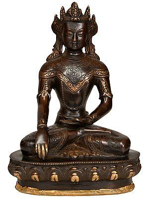 Crown Buddha in Bhumisparsha Mudra