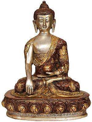 Bhumisparsha Buddha (Robes Decorated with Auspicious Symbols)