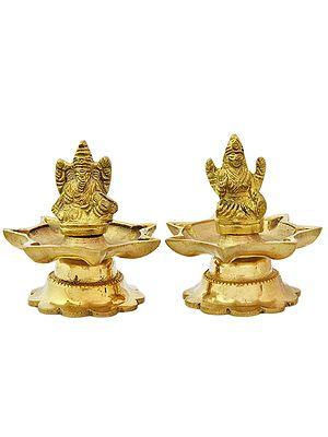 Ganesha Lakshmi (Pair of Lamp)