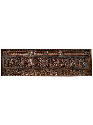 Finely Engraved Krishna-Lila Panel