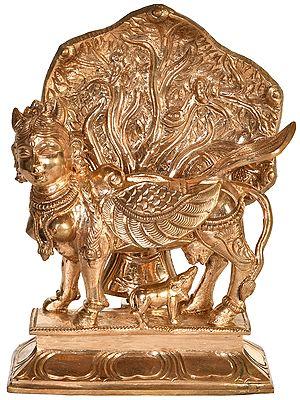 Kamadhenu Under Kalpavriksha