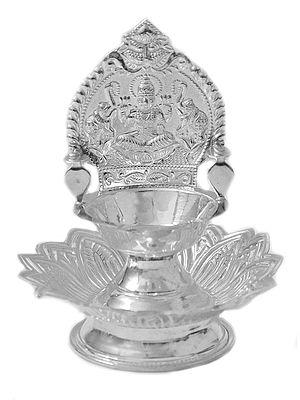 Gajalakshmi Puja Lamp with Lotus Stand