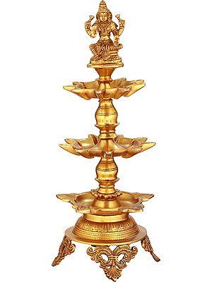 Goddess Lakshmi Twenty Three Wicks Puja Lamp
