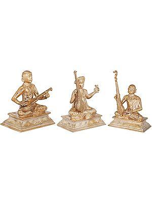 The Trinity Of Carnatic Music:  Saint Tyagaraja, Saint Muthuswami Dikshitar and Saint Syama Sastri