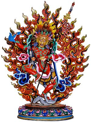 Tibetan Buddhist Deity Red Tara - Made in Nepal