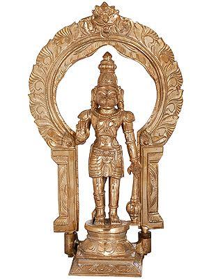 Standing Hanuman with Prabhawali