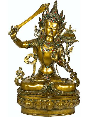 Large Size Manjushri, Buddhist God of Wisdom (Tibetan Buddhist Deity)
