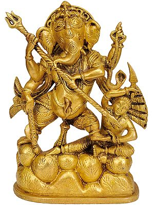 Lord Ganesha Annihilating Demon