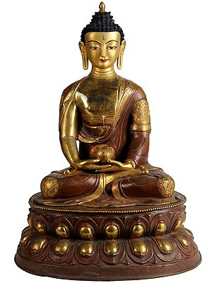 Lord Buddha in Meditation (Robes Decorated with Auspicious Symbols)