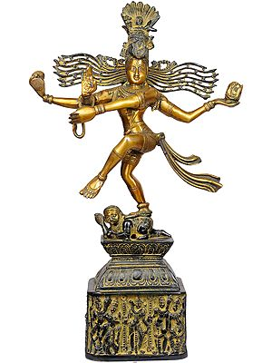 Rudra Tandava (Pedestal Decorated with Dancing Shiva and Parvati)