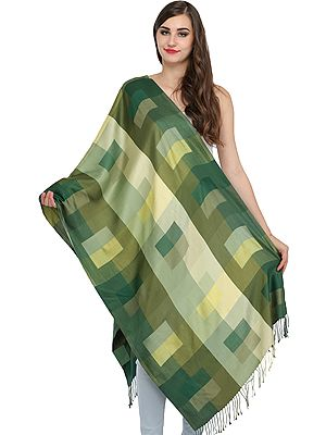 Reversible Pure Silk Stole with Woven Checks