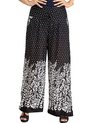 Printed Casual Palazzo Pants with Side Pockets
