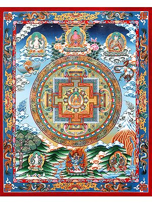 The Gracious Mandala Of The Buddha Ratnasambhava