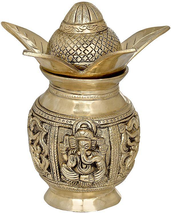 Coconut Kalasha for Lakshmi Ganesha Puja