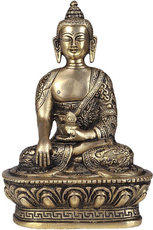 Vajrasana Buddha (Robes Decorated with Auspicious Symbols)